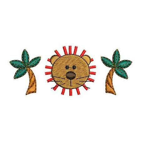 Little lion with palm tree -