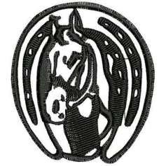 Horseshoe horse 7cm.