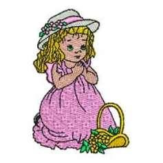 Niñita rezando