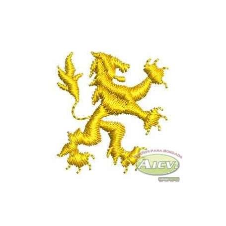 Yellow lion polo style