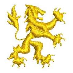 Yellow lion polo style - Embroidery
