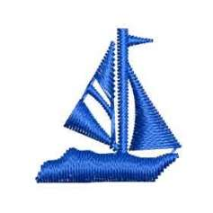 Blue sailboat -