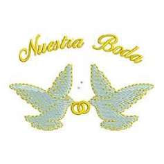 Palomas Boda - Embroidery design
