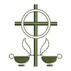 Cruz velas - Matriz de bordado