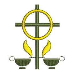 Cruz velas2 - Matriz de bordado