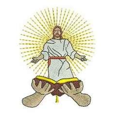 Jesús Biblia - Ponchados para bordados