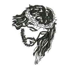Jesus face - Embroidery
