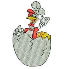 chicken chef - Embroidery