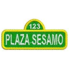 Plaza Sesamo letrero -