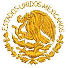 Eagle emblem México 5 inches