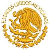 embroidery shield of México