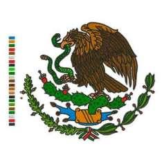 Aguila Escudo México a colores 20cm. -