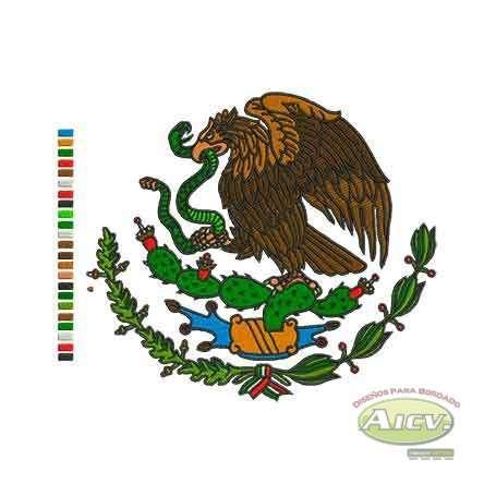 Aguila Escudo México a colores 15cm. -