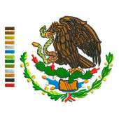 embroidery shield of México 3