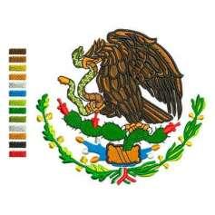Aguila Escudo México a colores 10cm. -