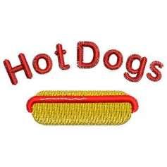 Hotdog - Matrices para bordados