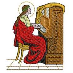 Saint Cecilia - Embroidery