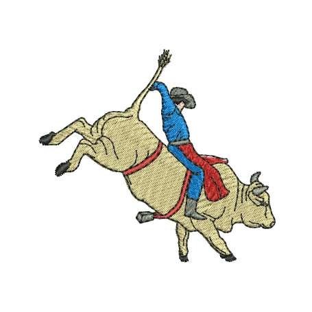 Toro Rodeo tamaño pequeño - Embroidery design