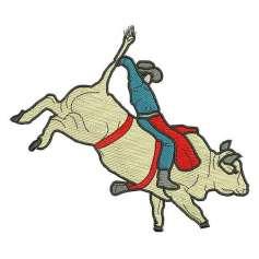 Toro Rodeo tamaño grande - Picajes para bordados