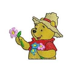 Matrices Picajes para bordado Pooh Flores
