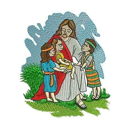 Jesus with children -