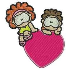 Niños corazón