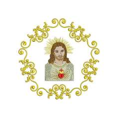 Sacred Heart of Jesus frame - Bordados