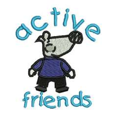Active Friends - Embroidery