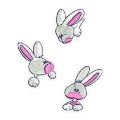 3 bunnies - Bordados