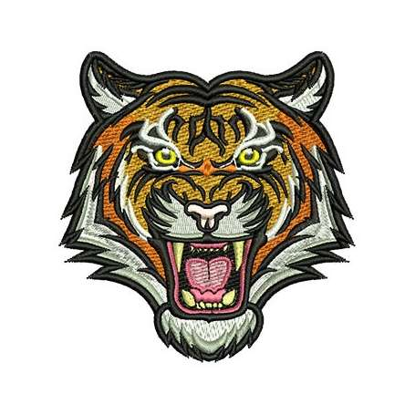 Tiger Face embroidery