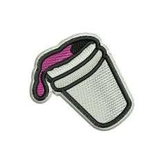 Matrices Picajes para bordado Bebida violeta