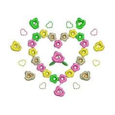 Flower heart - Matrices para bordados