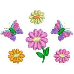 Flower with butterflies -