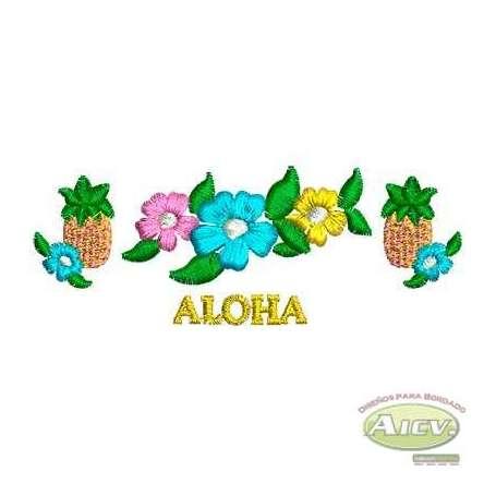 Flores Aloha - Matriz de bordado