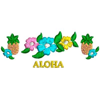 flowers aloha designs for embroidery