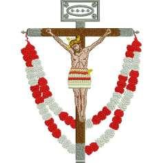 Jesucristo Cruz Guirnaldas -