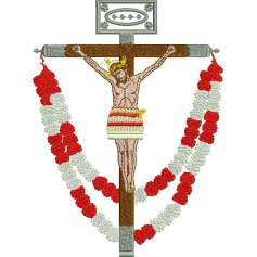 Jesus Christ on the Cross Garlands -