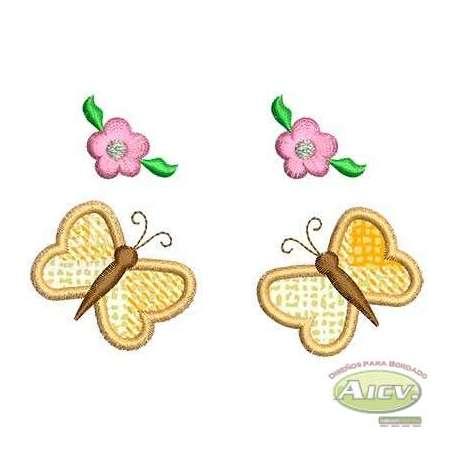 Mariposas y flores -