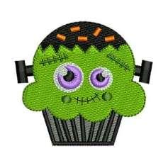 Frankenstein cupcake - Embroidery