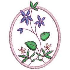 Flor con marco - Picajes para bordados