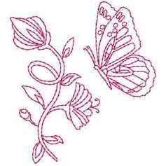 Flor redwork - Embroidery design