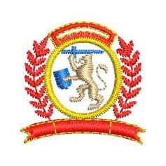 Escudito león - Picajes para bordados