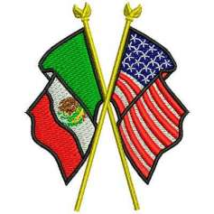 MexUsa 6.5cm - Embroidery design
