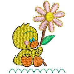 Little duckling flower - Embroidery