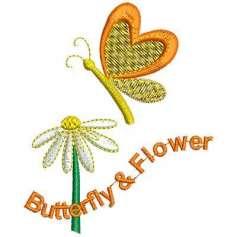 Mariposa flor - Picajes para bordados