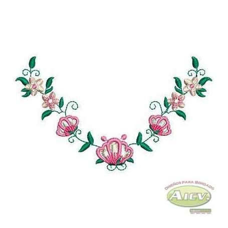 Flor enredadera - Ponchado