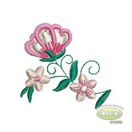 Flor detalle - Embroidery design