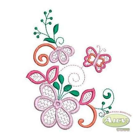 Magnolia flower - Matrices para bordados