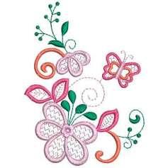 Flor magnolia - Picajes para bordados
