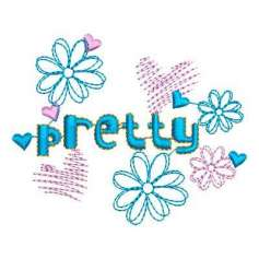 Flor pretty - Embroidery design